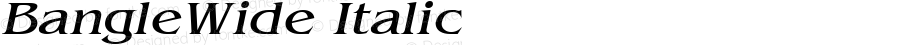 BangleWide Italic Altsys Fontographer 4.1 10/31/95