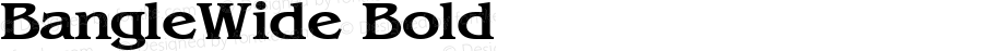 BangleWide Bold Altsys Fontographer 4.1 5/27/96