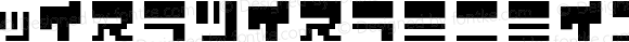 ZerozeronineKT Regular Macromedia Fontographer 4.1J 04.12.29