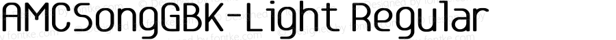 AMCSongGBK-Light Regular Version 5.00