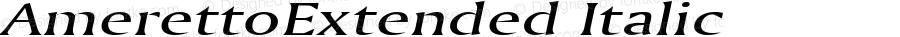 AmerettoExtended Italic Altsys Fontographer 4.1 5/28/96