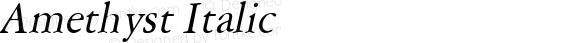 Amethyst Italic Macromedia Fontographer 4.1 6/28/96