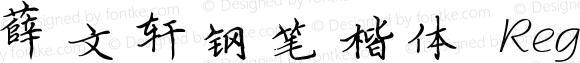薛文轩钢笔楷体 Regular