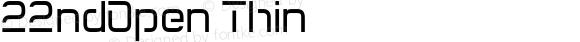 22ndOpen Thin Macromedia Fontographer 4.1.5 4/28/04