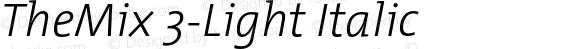 TheMix 3-Light Italic