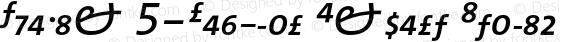 TheMix 5-Regular Expert Italic Version 1.0   Luc{as} de Groot 1994   www.lucasfonts.com   Homemade OpenType version