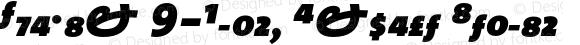 TheMix 9-Black Expert Italic Version 1.0   Luc{as} de Groot 1994   www.lucasfonts.com   Homemade OpenType version