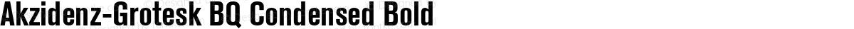 Akzidenz-Grotesk BQ Condensed Bold