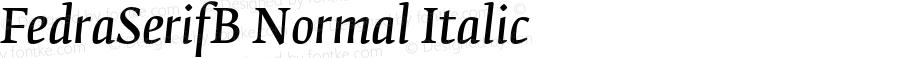 FedraSerifB Normal Italic 001.000