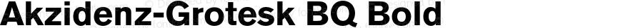 AkzidenzGroteskBQ-Bold