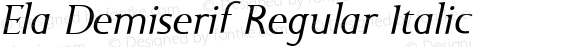 Ela Demiserif Regular Italic PDF Extract