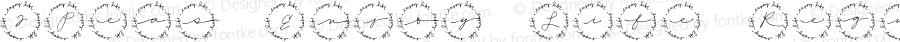 2Peas Enjoy Life Regular Macromedia Fontographer 4.1 4/4/2005