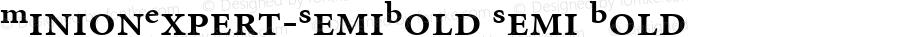 MinionExpert-SemiBold Semi Bold Version 1.00