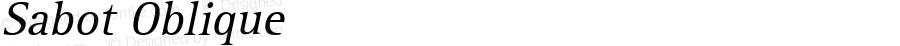 Sabot Oblique 1.0 Tue Sep 20 18:34:37 1994