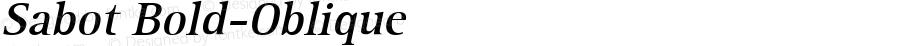 Sabot Bold-Oblique 1.0 Tue Sep 20 18:39:35 1994