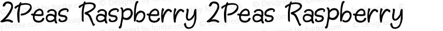 2Peas Raspberry 2Peas Raspberry 2Peas Raspberry