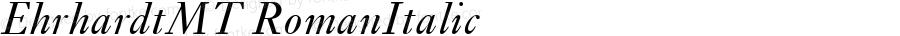 EhrhardtMT RomanItalic Version 1.00