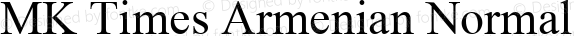 MK Times Armenian Normal 1.0 Thu Feb 04 19:33:19 1993