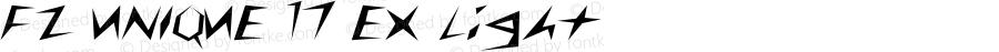 FZ UNIQUE 17 EX Light 1.0 Mon May 09 15:10:53 1994