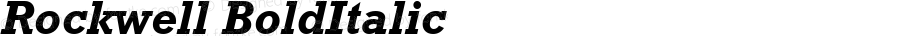 Rockwell-Bold Italic