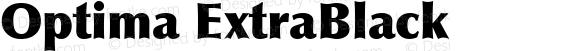 Optima ExtraBlack Macromedia Fontographer 4.1 06/05/99