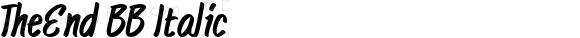 TheEnd BB Italic Macromedia Fontographer 4.1 10/27/04