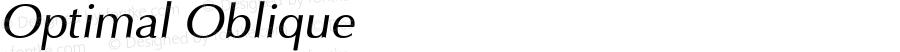 Optimal Oblique 1.0 Tue Sep 20 14:52:48 1994