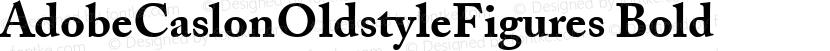 AdobeCaslonOldstyleFigures Bold Preview Image