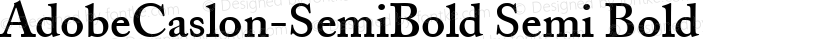 AdobeCaslon-SemiBold Semi Bold Preview Image