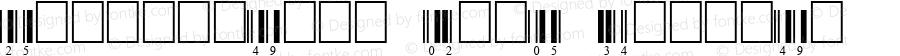 Interleaved 2of5 Regular Fontlab V2.5 9/17/99