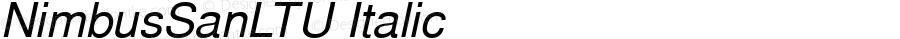 NimbusSanLTU Italic Version 001.005
