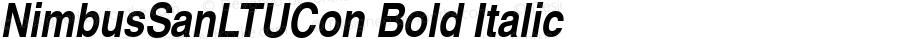 NimbusSanLTUCon Bold Italic Version 001.005