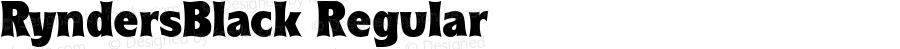 RyndersBlack Regular Macromedia Fontographer 4.1.5 5/15/98