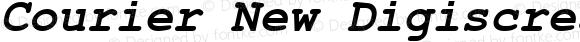 Courier New Digiscream Bold Italic Version 2.76