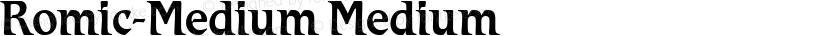 Romic-Medium Medium Preview Image