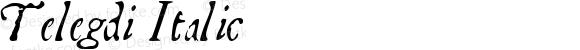 Telegdi Italic Macromedia Fontographer 4.1.3 9/27/01