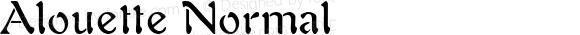 Alouette Normal Macromedia Fontographer 4.1.4 12/2/99