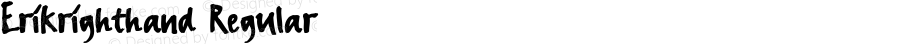 Erikrighthand Regular Macromedia Fontographer 4.1 6.2.01