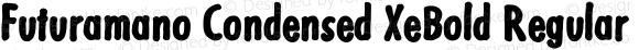 Futuramano Condensed XeBold Regular PDF Extract