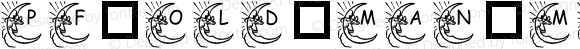 pf_old_man_moon1 Regular Macromedia Fontographer 4.1 09/04/2000