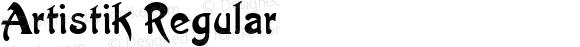Artistik Regular Macromedia Fontographer 4.1.5 9/3/98