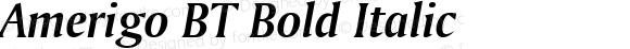 Amerigo BT Bold Italic mfgpctt-v1.53 Monday, February 1, 1993 12:13:20 pm (EST)