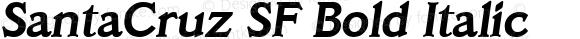SantaCruz SF Bold Italic Altsys Fontographer 3.5  31.01.1994