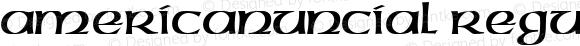 AmericanUncial Regular Altsys Fontographer 4.1 3/2/95