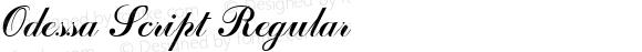 Odessa Script Regular Altsys Fontographer 3.5  6/26/92