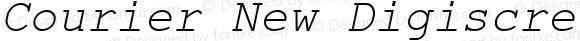 Courier New Digiscream Italic Version 2.76