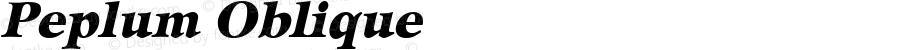 Peplum Oblique 1.0 Wed Sep 21 13:36:05 1994