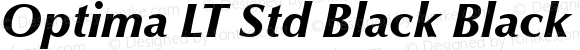 Optima LT Std Black Black Italic