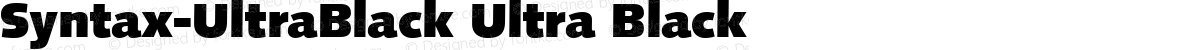 Syntax-UltraBlack Ultra Black