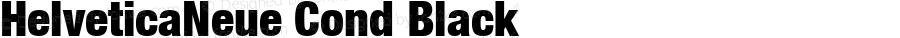 HelveticaNeue Cond Black Macromedia Fontographer 4.1 4/17/2000